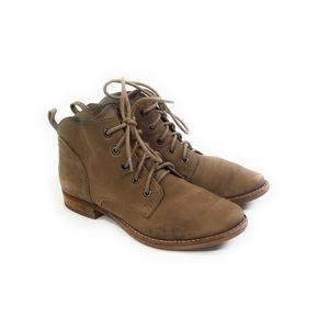 SAM EDELMAN Distressed Worn Leather Boots Size 5.5